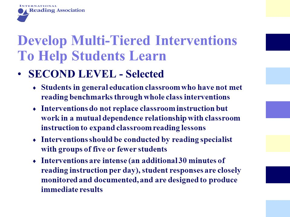 Develop Multi-Tiered Interventions To Help Students Learn