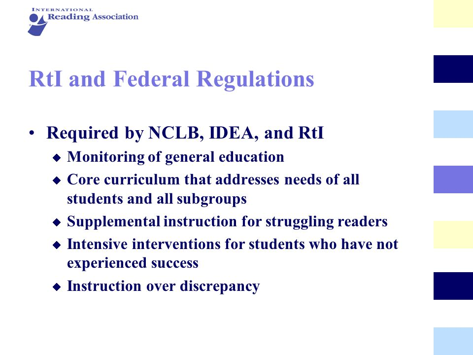 RtI and Federal Regulations