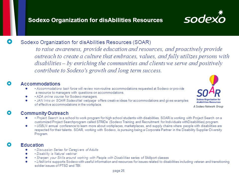 Sodexo Organization for disAbilities Resources