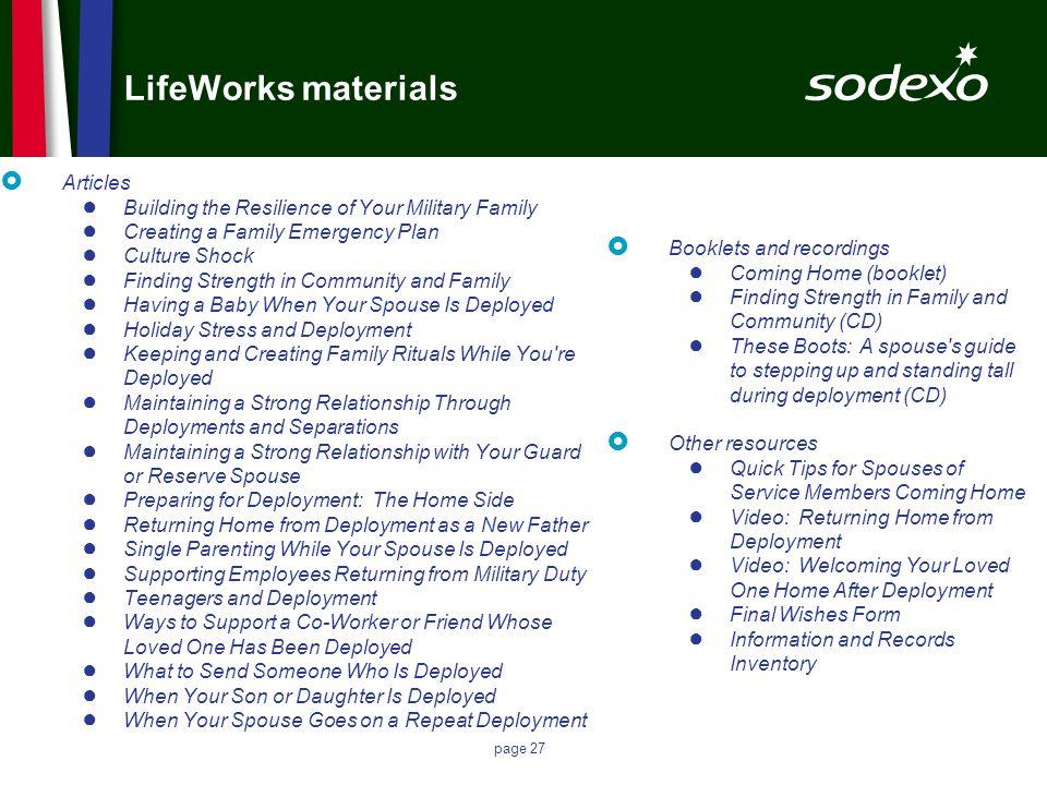 LifeWorks materials Articles