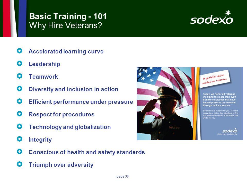 Basic Training - 101 Why Hire Veterans