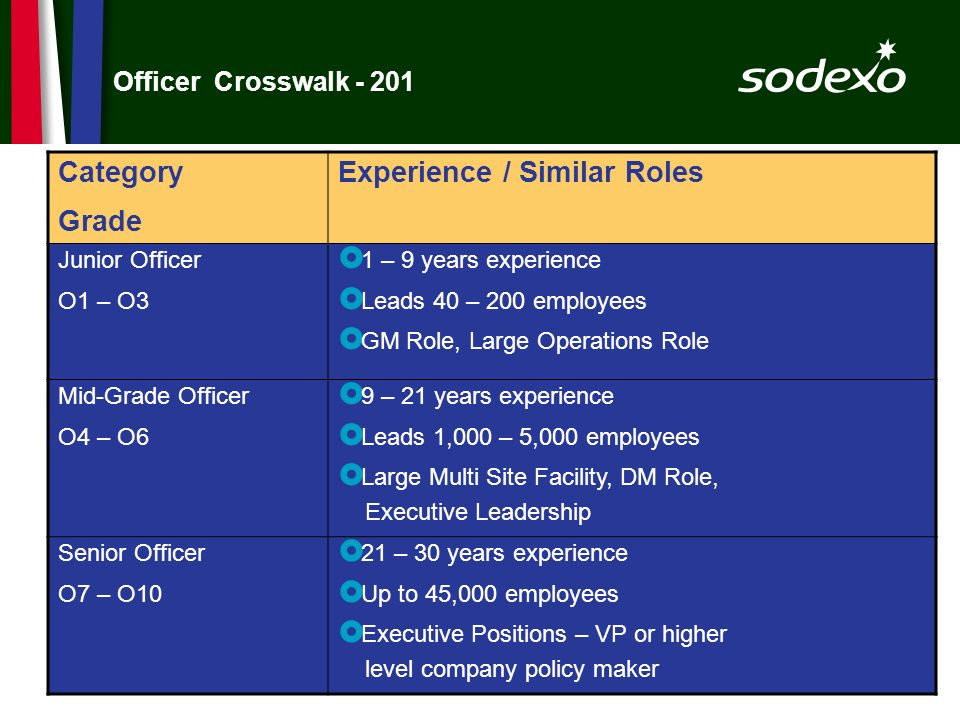 Experience / Similar Roles