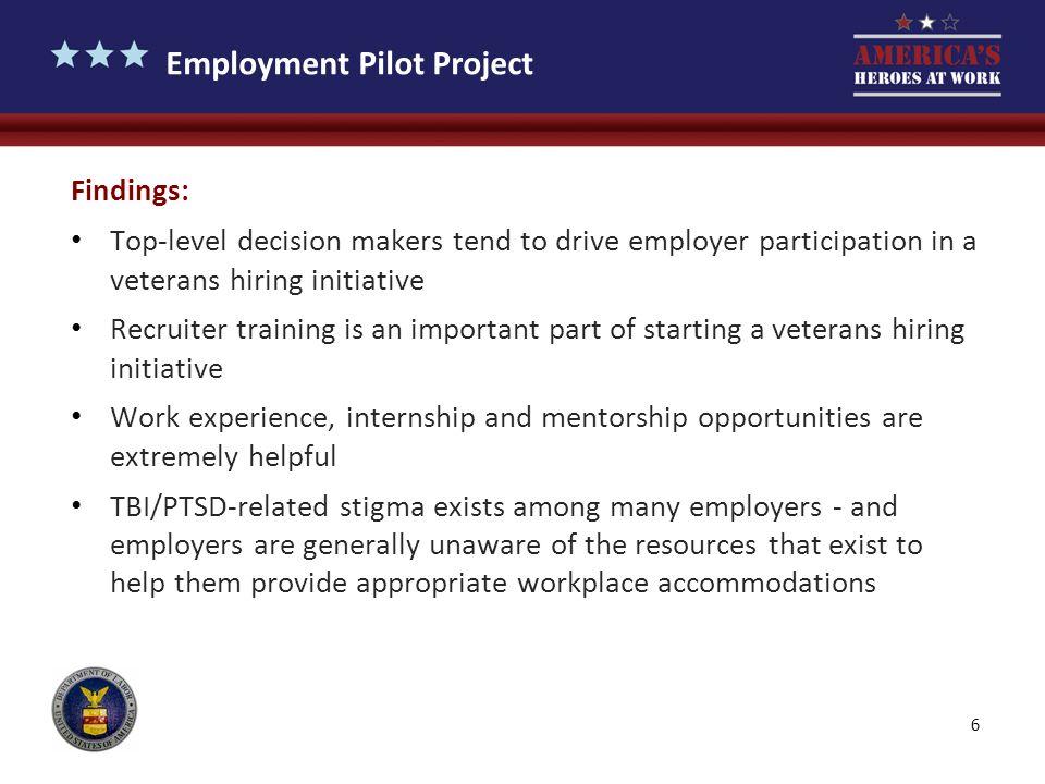 Employment Pilot Project