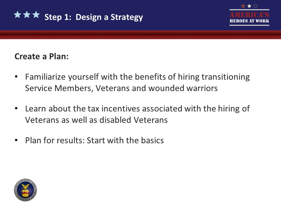 Step 1: Design a Strategy