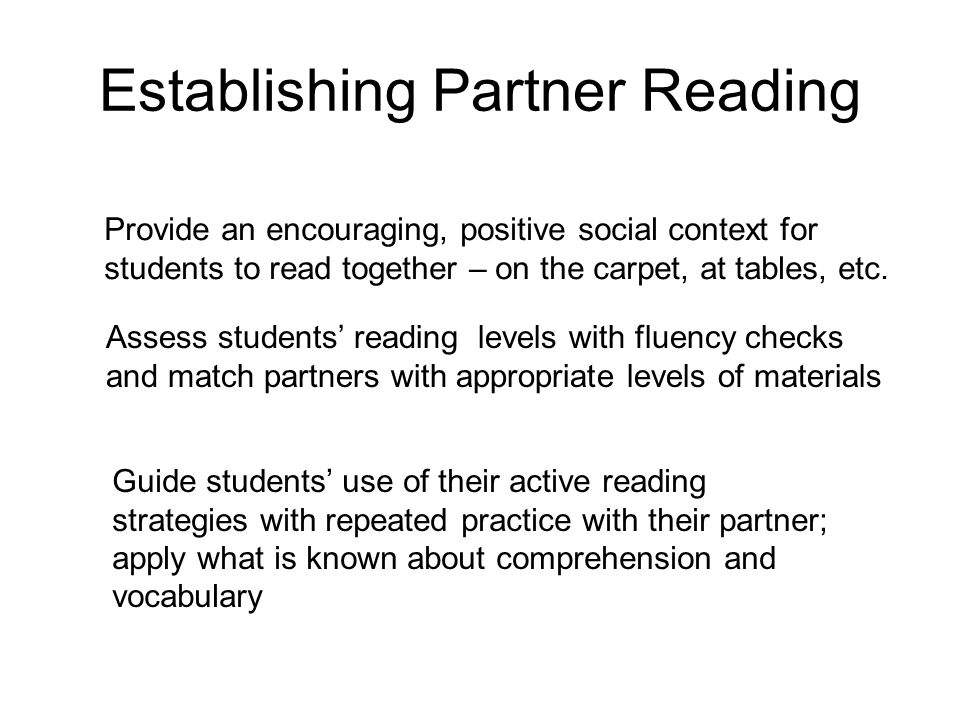 Establishing Partner Reading