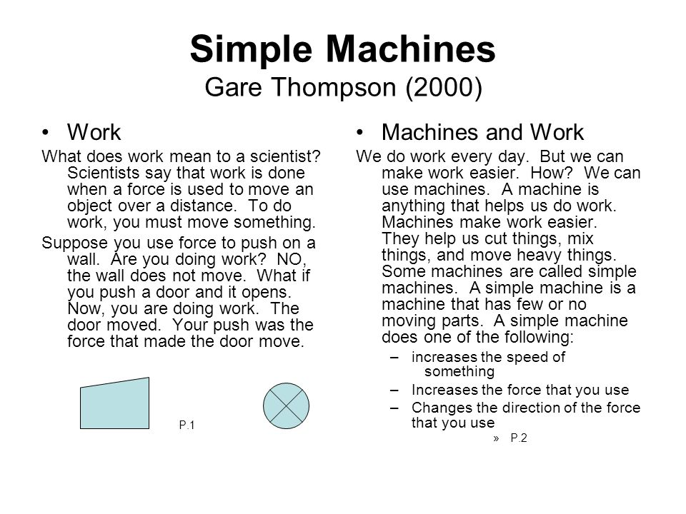 Simple Machines Gare Thompson (2000)