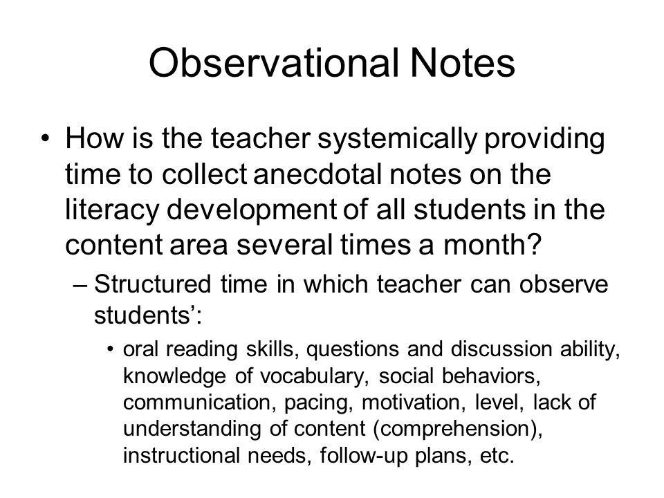 Observational Notes