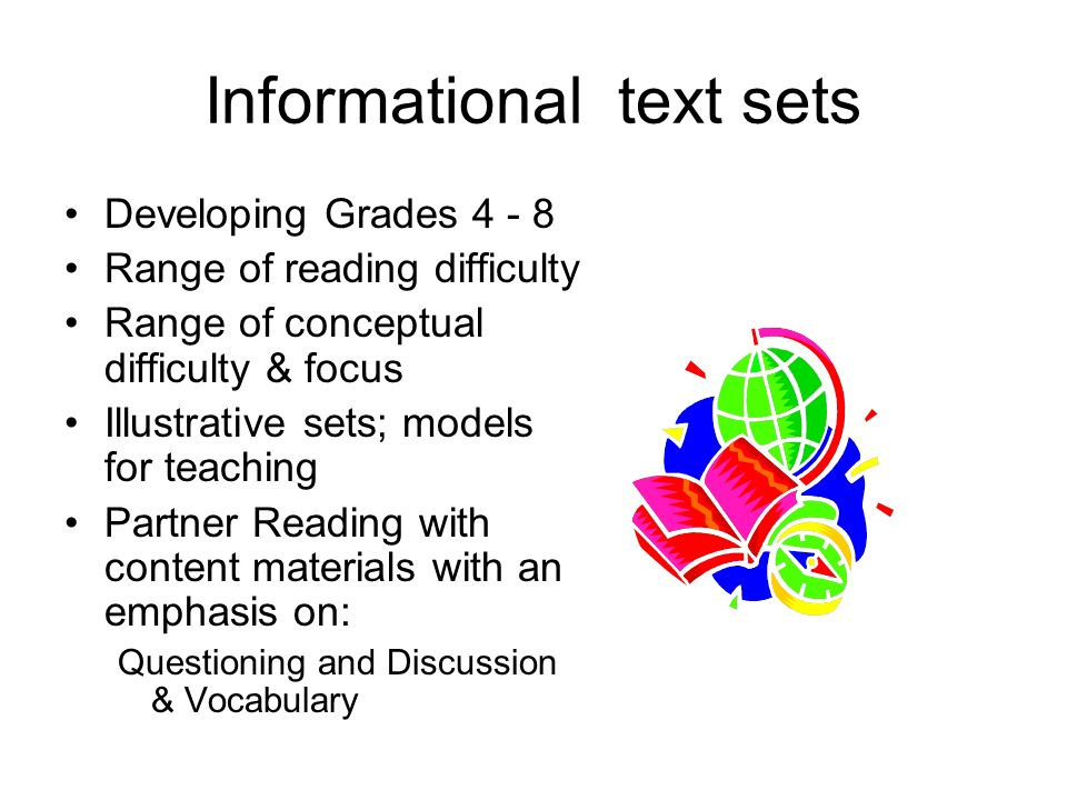 Informational text sets