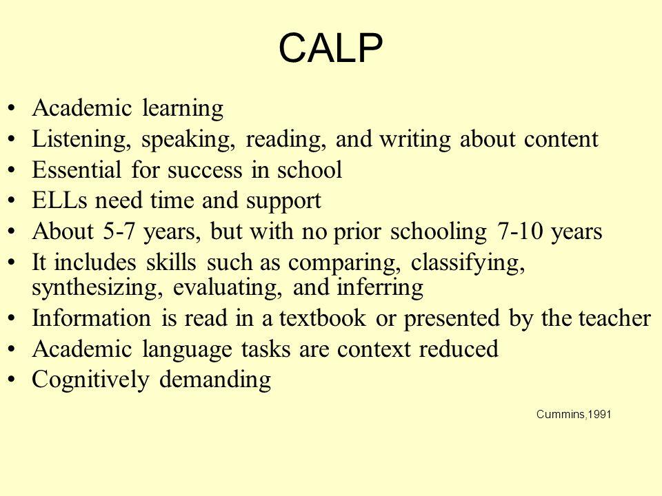 CALP Academic learning