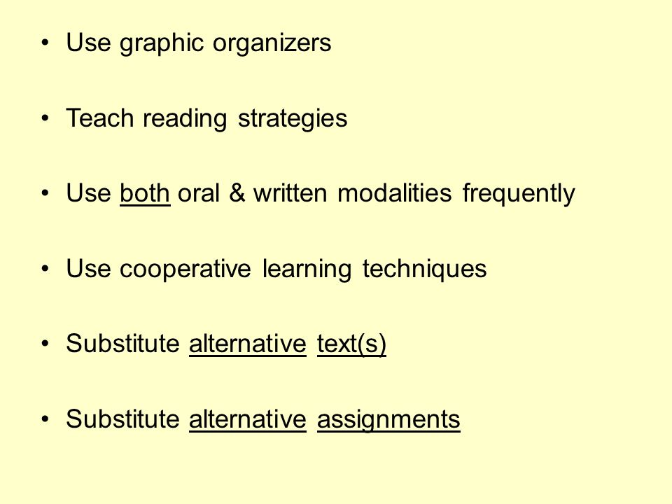 Use graphic organizers