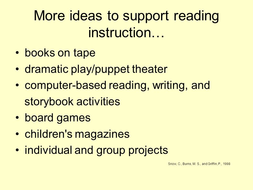 More ideas to support reading instruction…