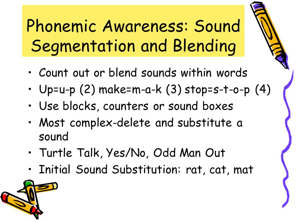 Phonemic Awareness: Sound Segmentation and Blending