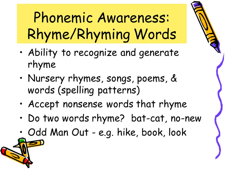 Phonemic Awareness: Rhyme/Rhyming Words