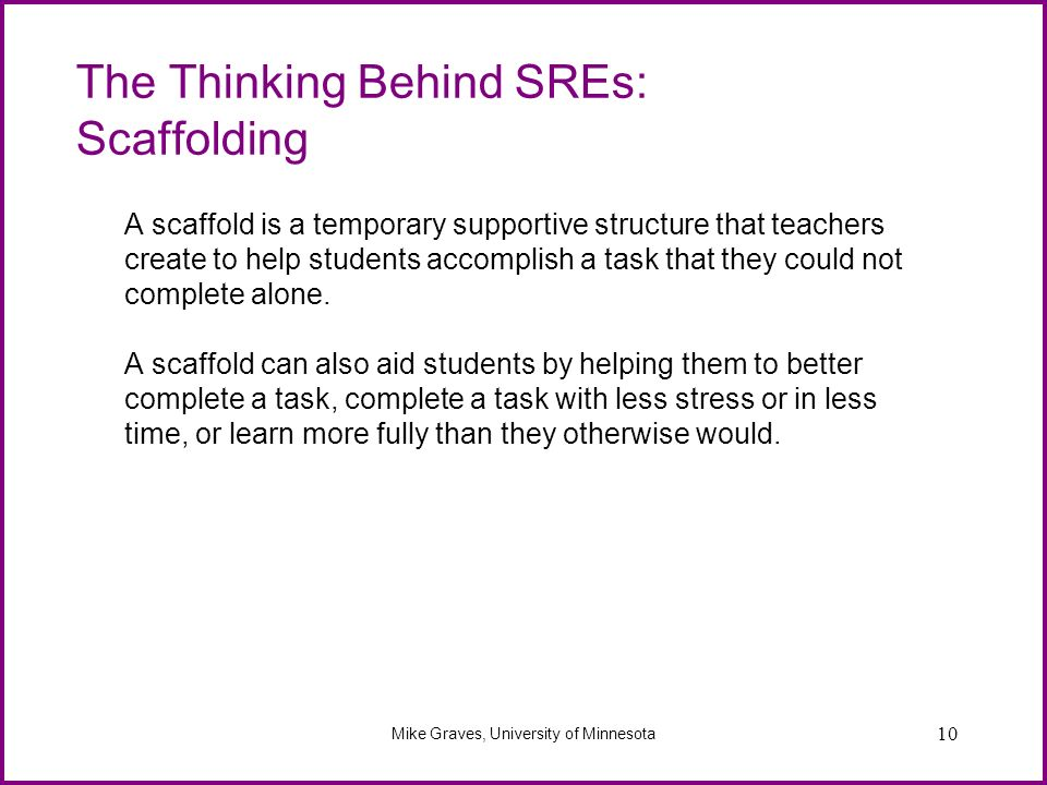 The Thinking Behind SREs: Scaffolding
