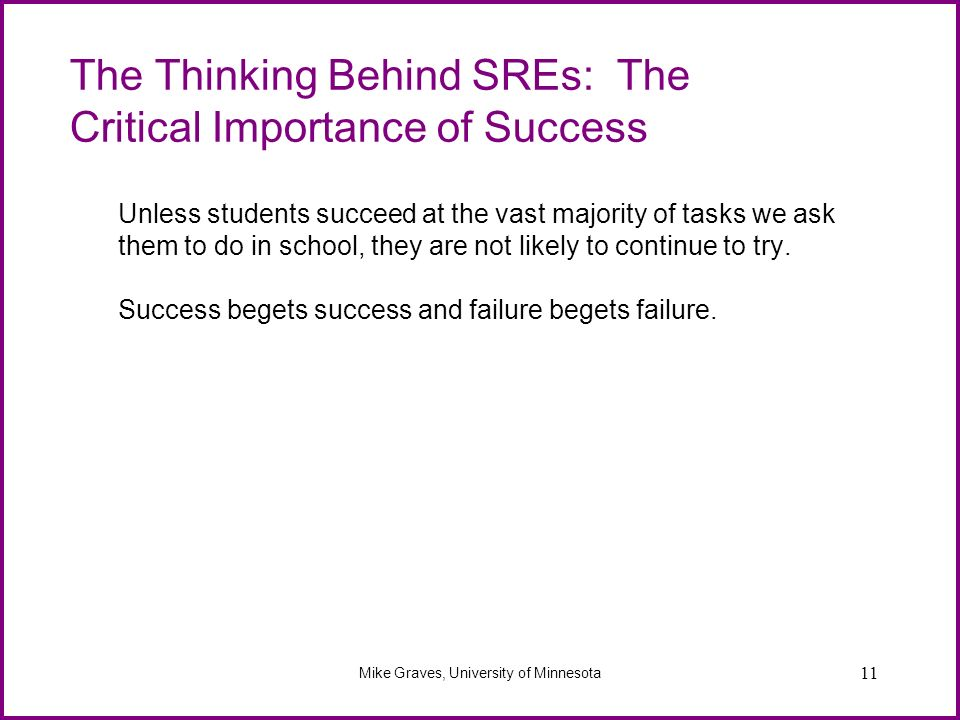 The Thinking Behind SREs: The Critical Importance of Success