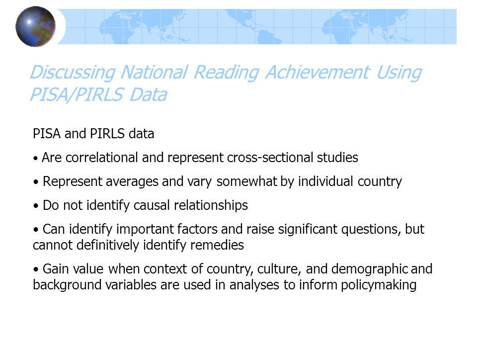 Discussing National Reading Achievement Using PISA/PIRLS Data