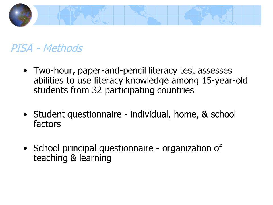 PISA - Methods