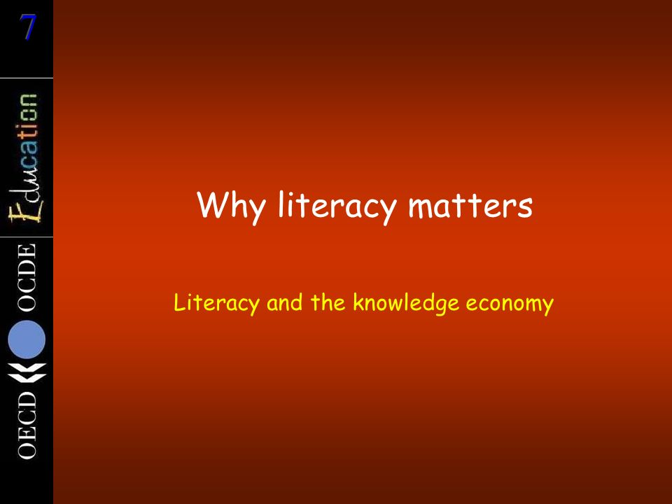 Literacy and the knowledge economy