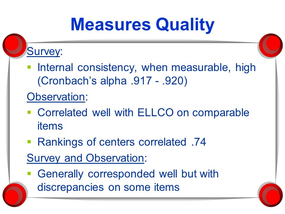 Measures Quality Survey: