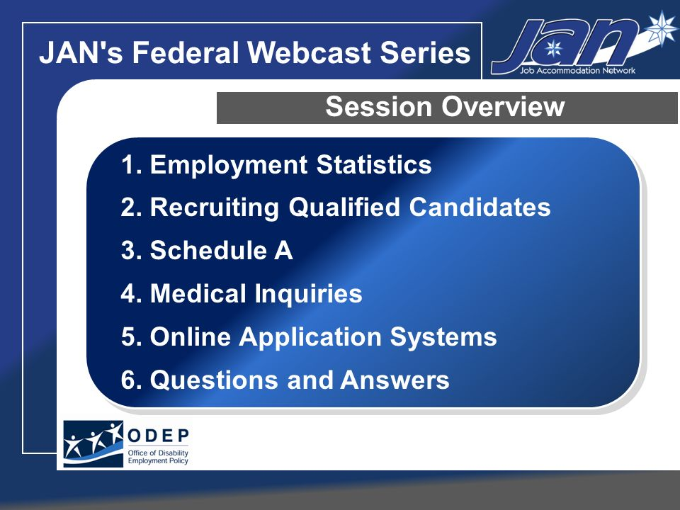 JAN s Federal Webcast Series