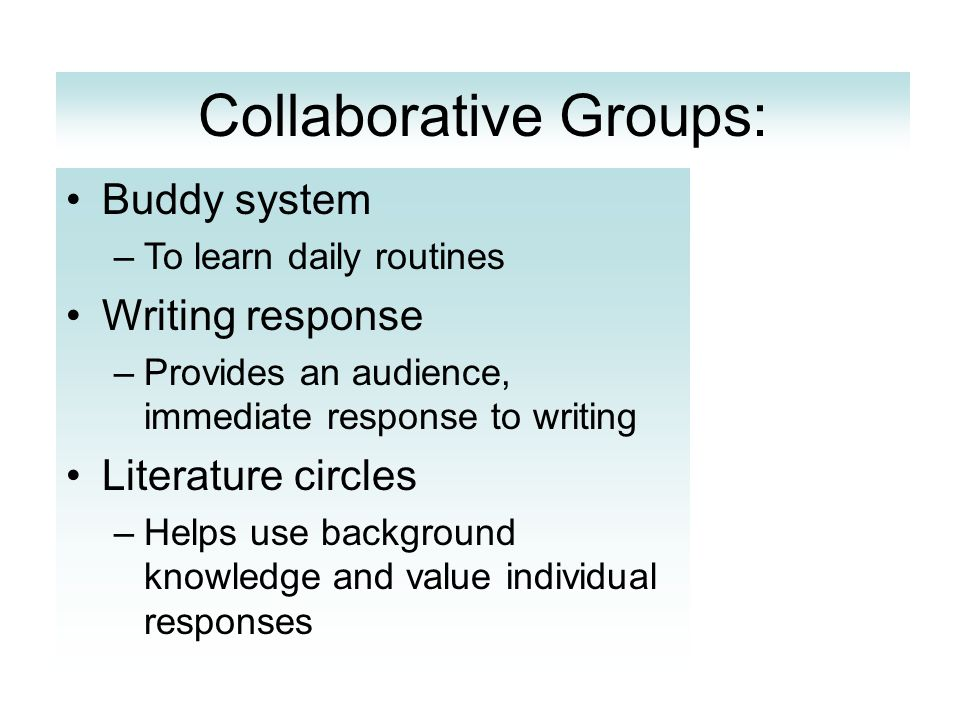 Collaborative Groups: