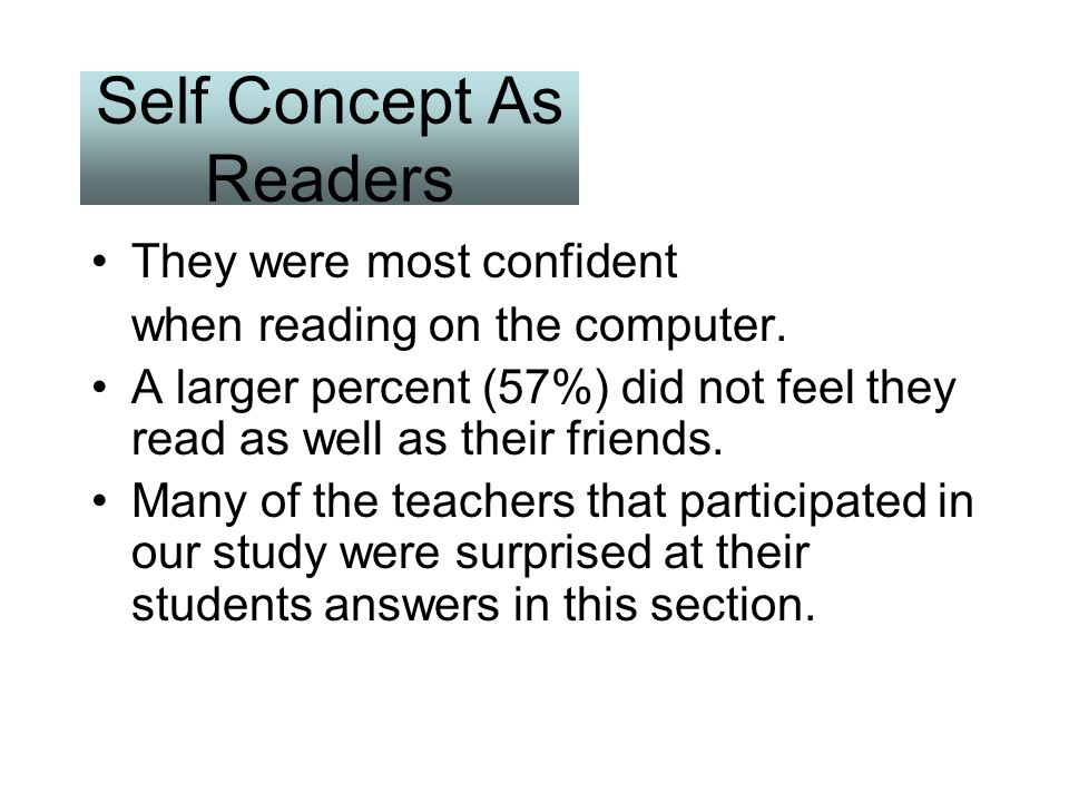 Self Concept As Readers