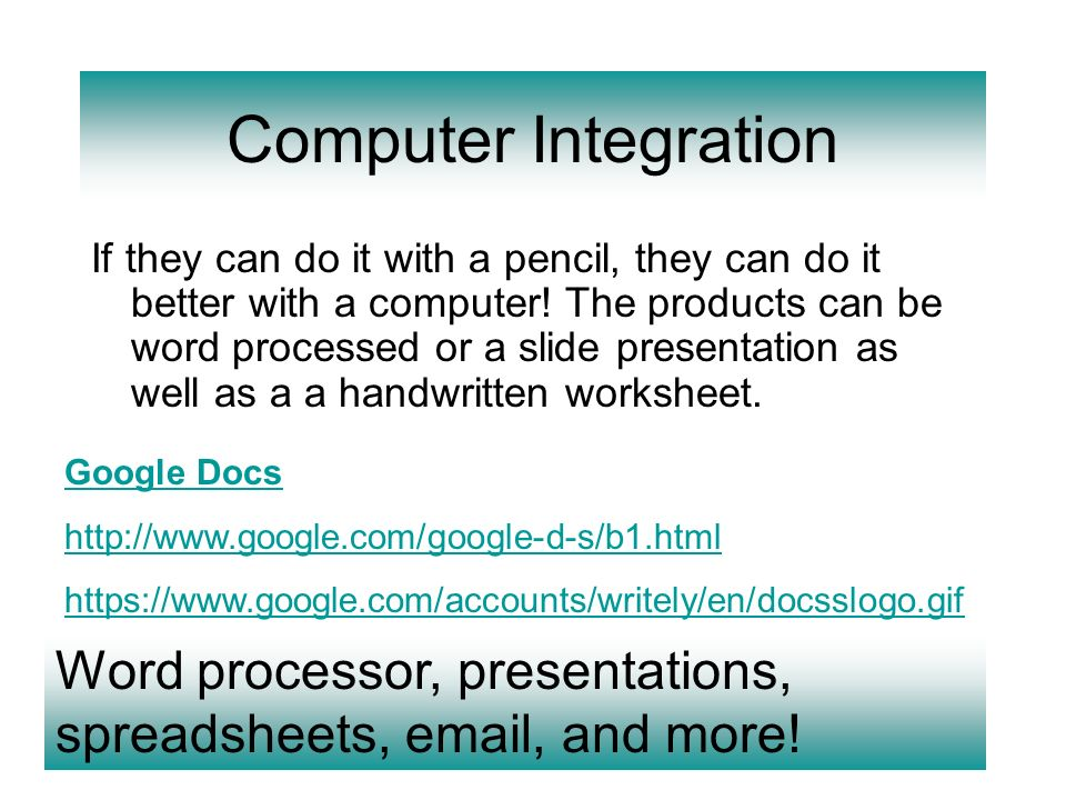 Computer Integration