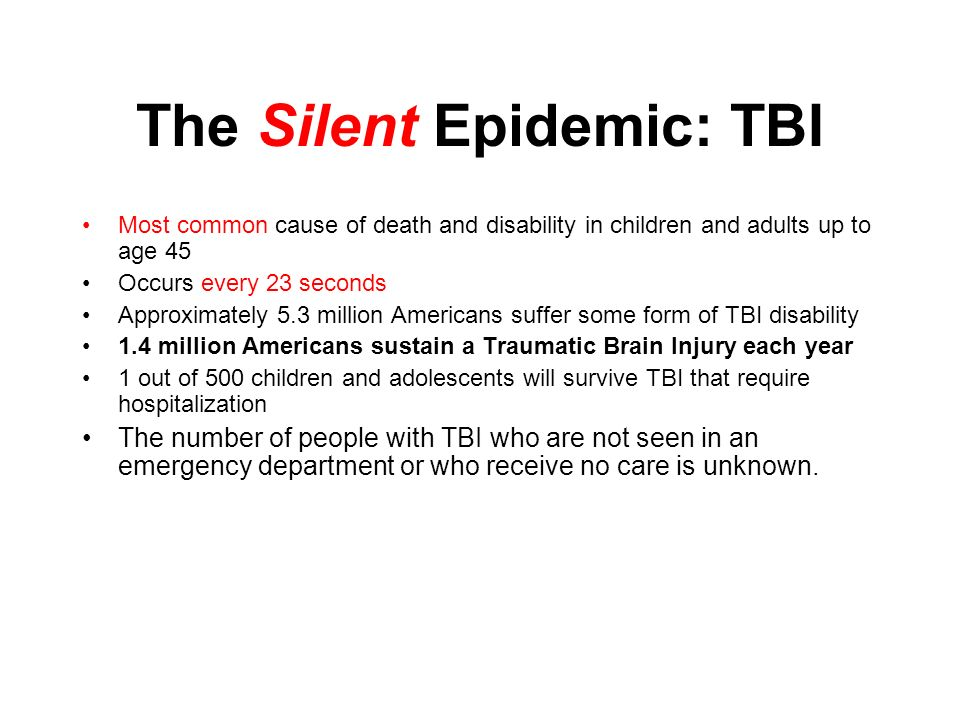 The Silent Epidemic: TBI