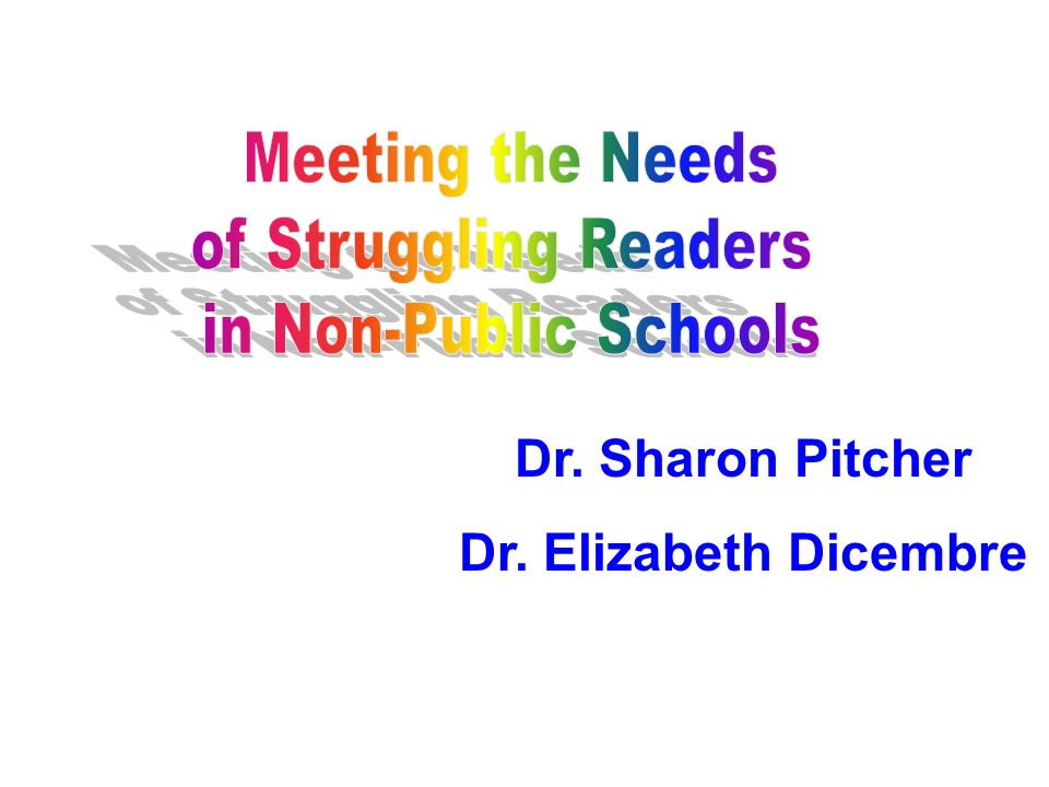 Meeting the Needs of Struggling Readers. in Non-Public Schools.