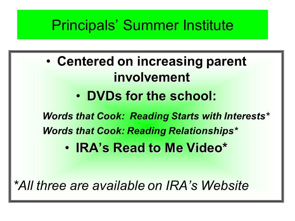 Principals' Summer Institute
