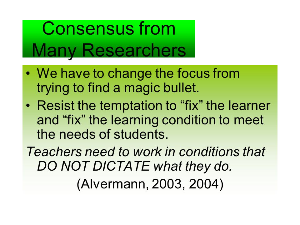 Consensus from Many Researchers