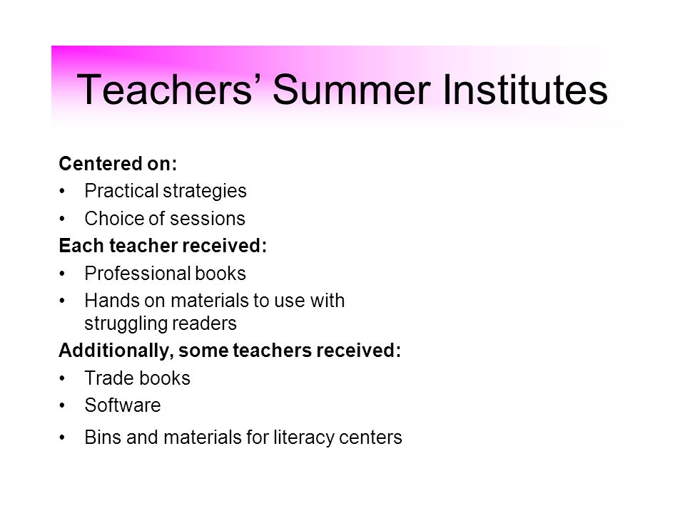 Teachers' Summer Institutes