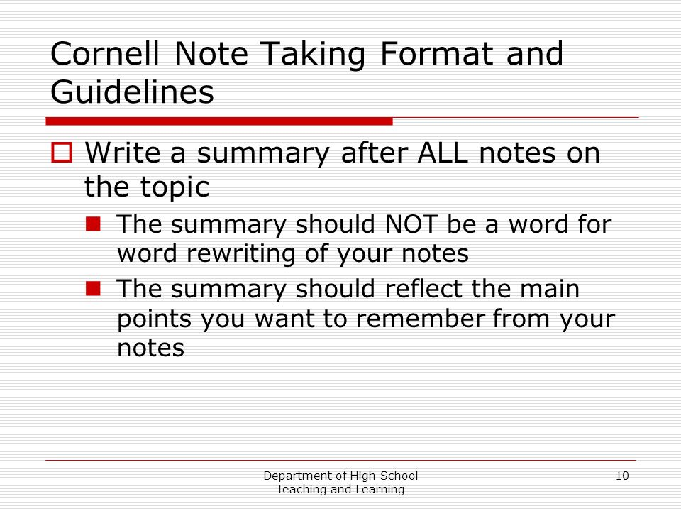 Note Taking Template Word Cornell Note Template Doc Cornell Note