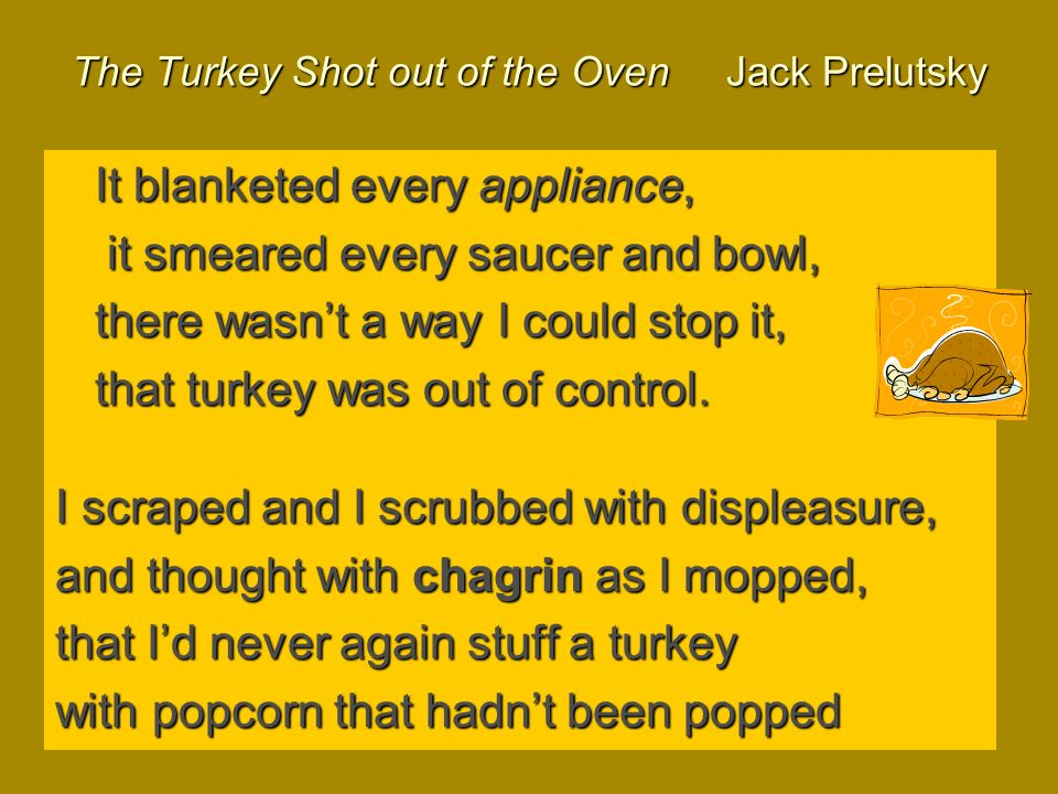 The Turkey Shot out of the Oven Jack Prelutsky