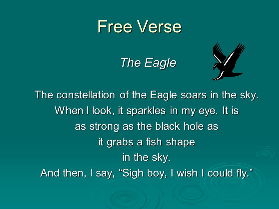 Free Verse The Eagle The constellation of the Eagle soars in the sky.