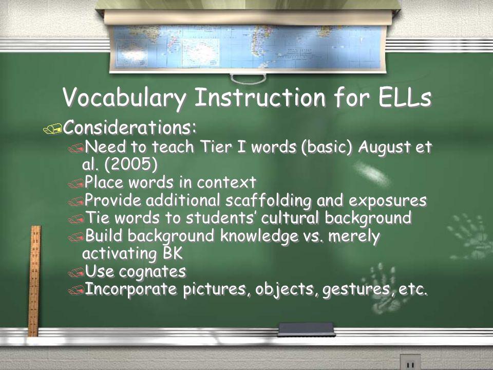 Vocabulary Instruction for ELLs
