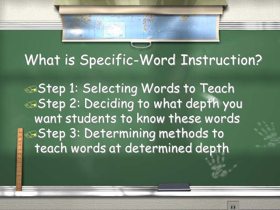 What is Specific-Word Instruction