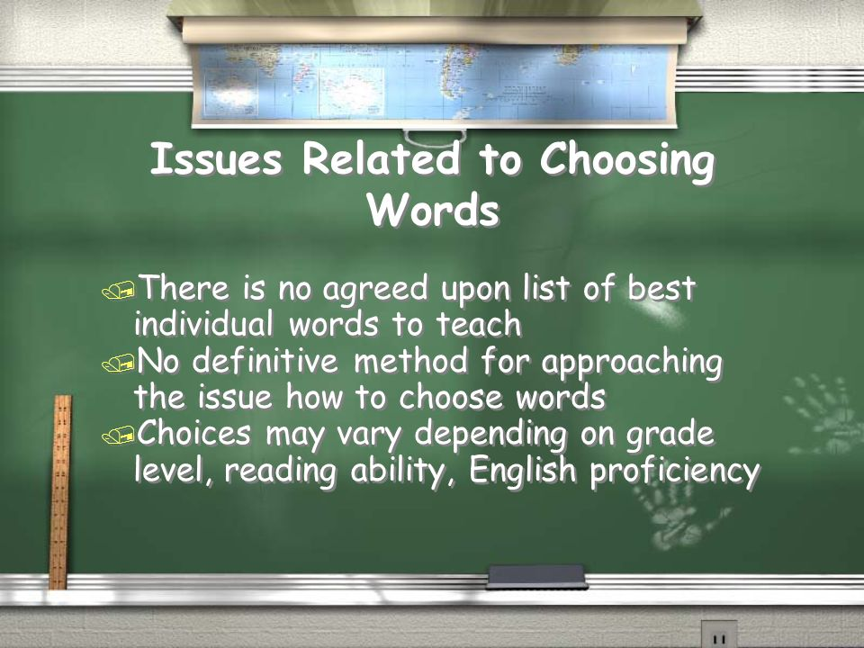 Issues Related to Choosing Words