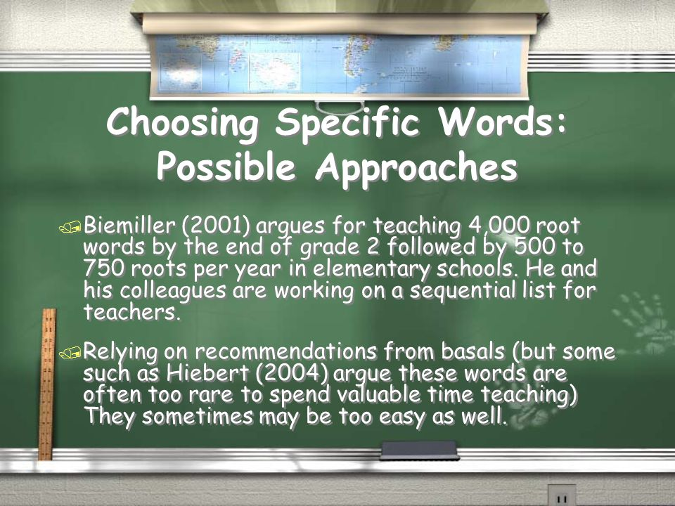Choosing Specific Words: Possible Approaches