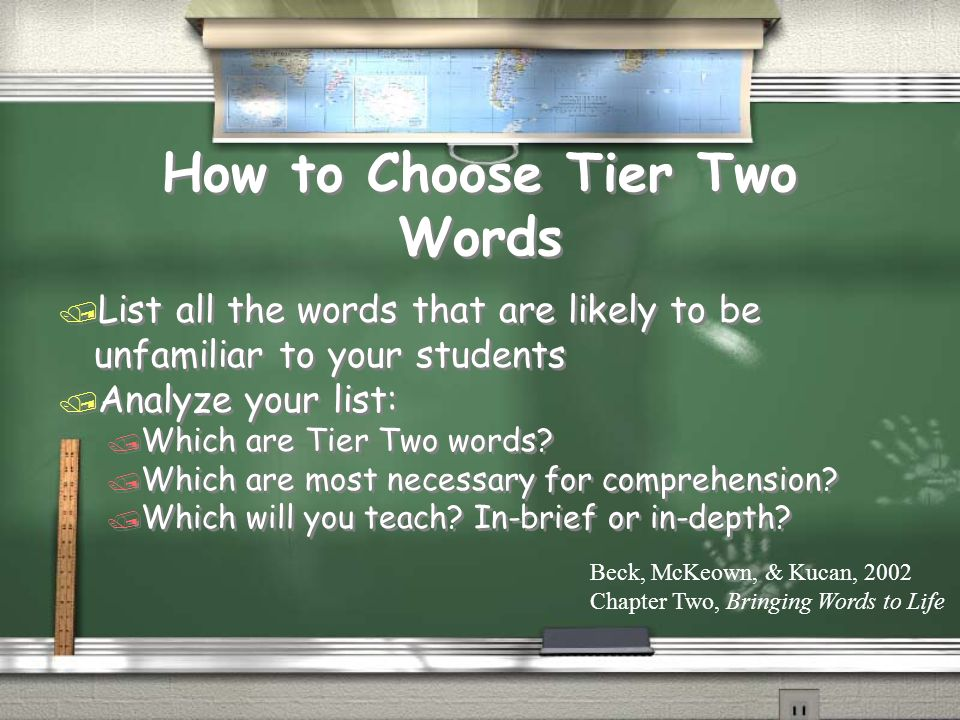 How to Choose Tier Two Words