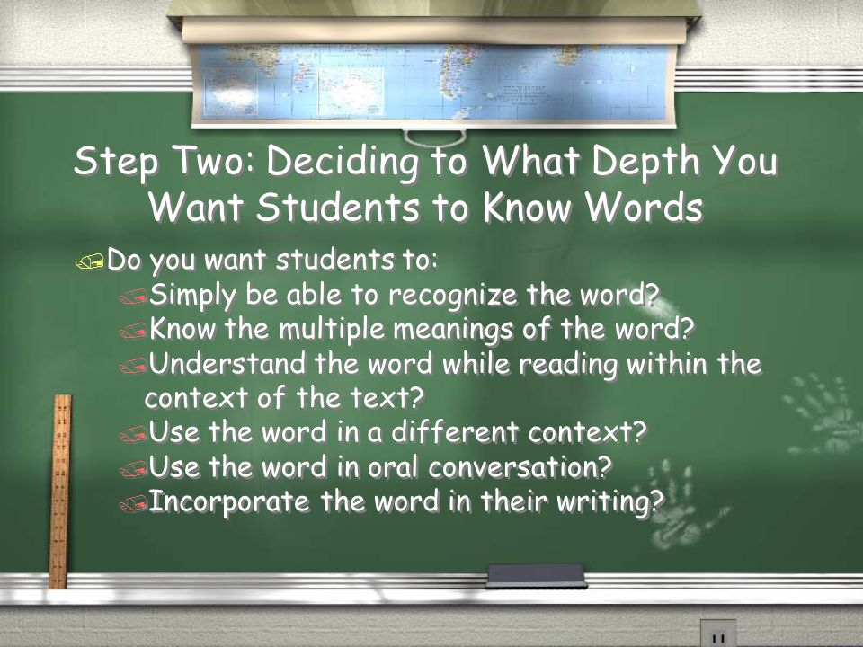Step Two: Deciding to What Depth You Want Students to Know Words