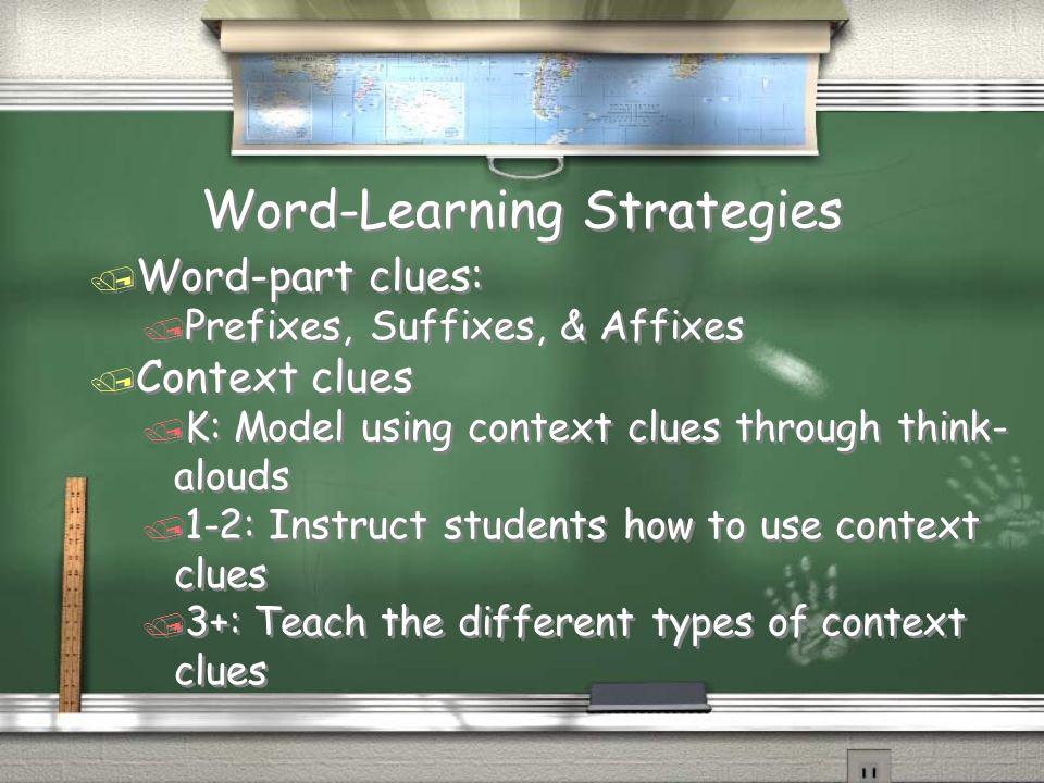 Word-Learning Strategies