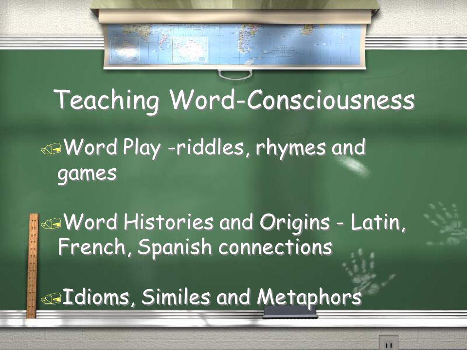Teaching Word-Consciousness