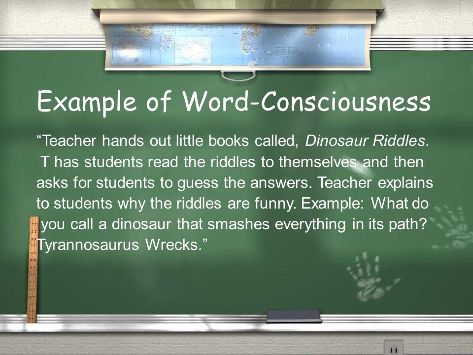 Example of Word-Consciousness