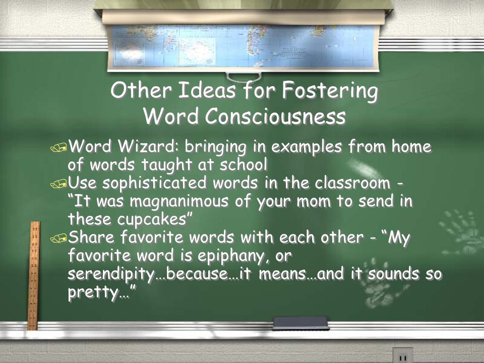 Other Ideas for Fostering Word Consciousness