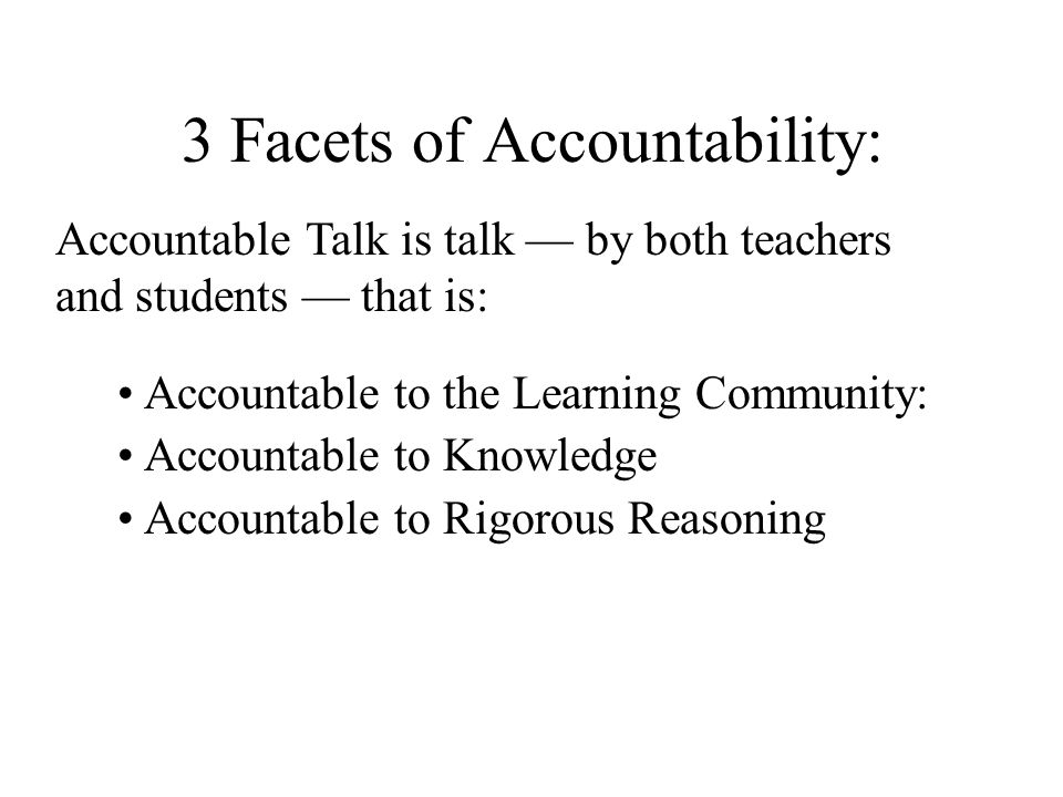 3 Facets of Accountability: