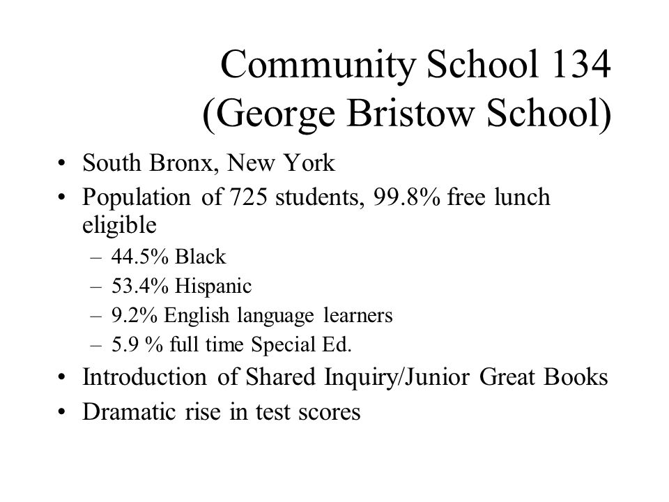 Community School 134 (George Bristow School)