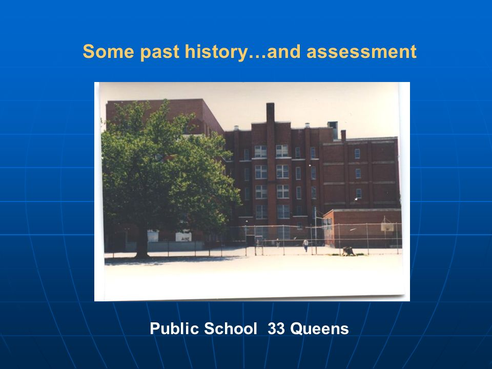 Some past history…and assessment