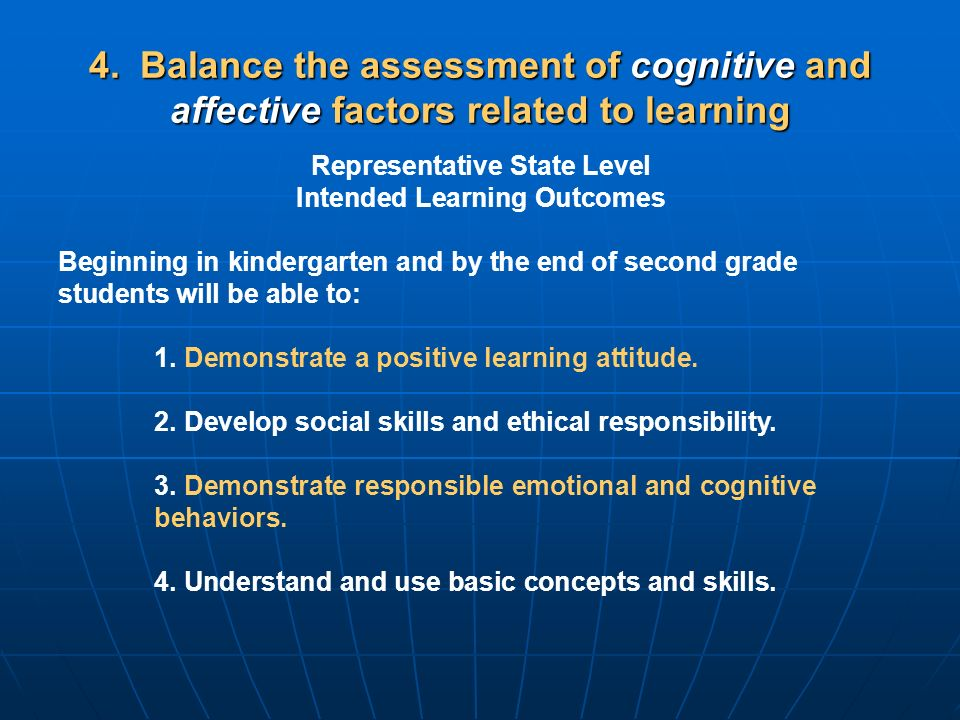 Representative State Level Intended Learning Outcomes