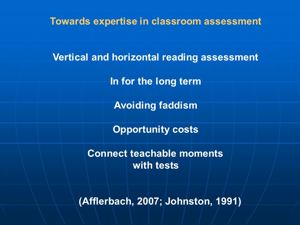 Towards expertise in classroom assessment
